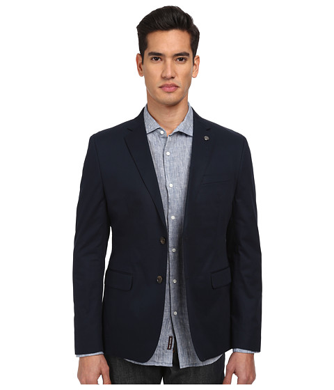 Michael Kors - Cotton Twill Blazer (Midnight) Men's Jacket