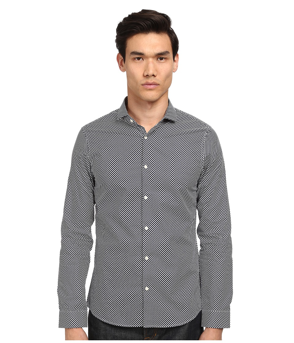 Michael Kors - Slim Mervin Dot Shirt (Navy) Men's Clothing