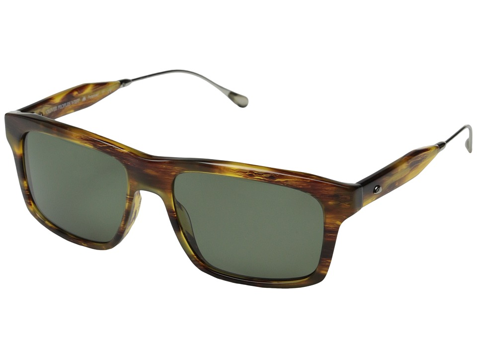 fe8cb10038 827934375345. Oliver Peoples West - Gaviota (Light Tortoise Sage Polarized)  Fashion Sunglasses