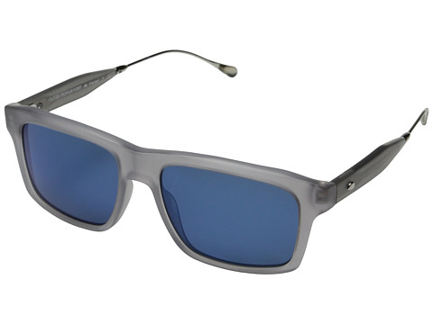 Oliver Peoples West - Gaviota (Semi Matte Cool Grey/Malibu Mirror Polarized) Fashion Sunglasses