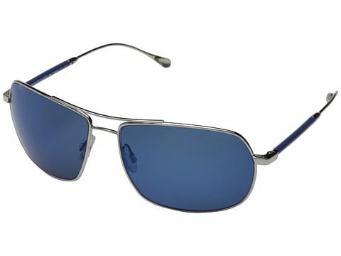 Oliver Peoples West - Bates (Silver/Malibu Mirror Polarized) Fashion Sunglasses