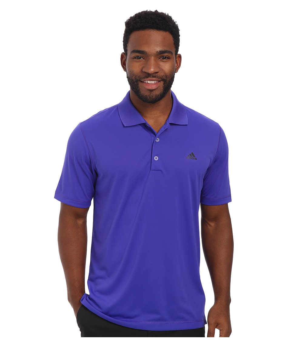 adidas Golf - Solid Jersey Polo w/ Front Logo (Night Flash/Black) Men