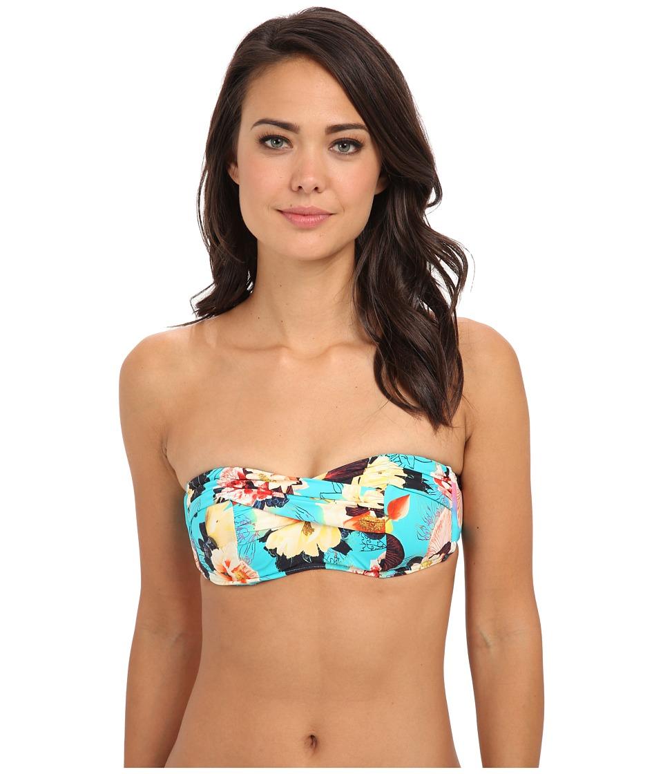 Seafolly - Kabuki Bloom Bandeau Bustier (Seychelles) Women's Swimwear