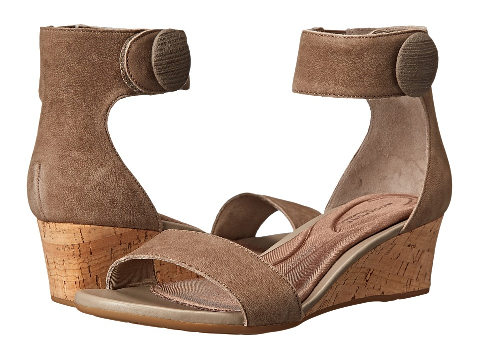 Rockport - Total Motion 55mm Stone Ankle Strap Wedge Sandal (Tuffet) Women's Wedge Shoes