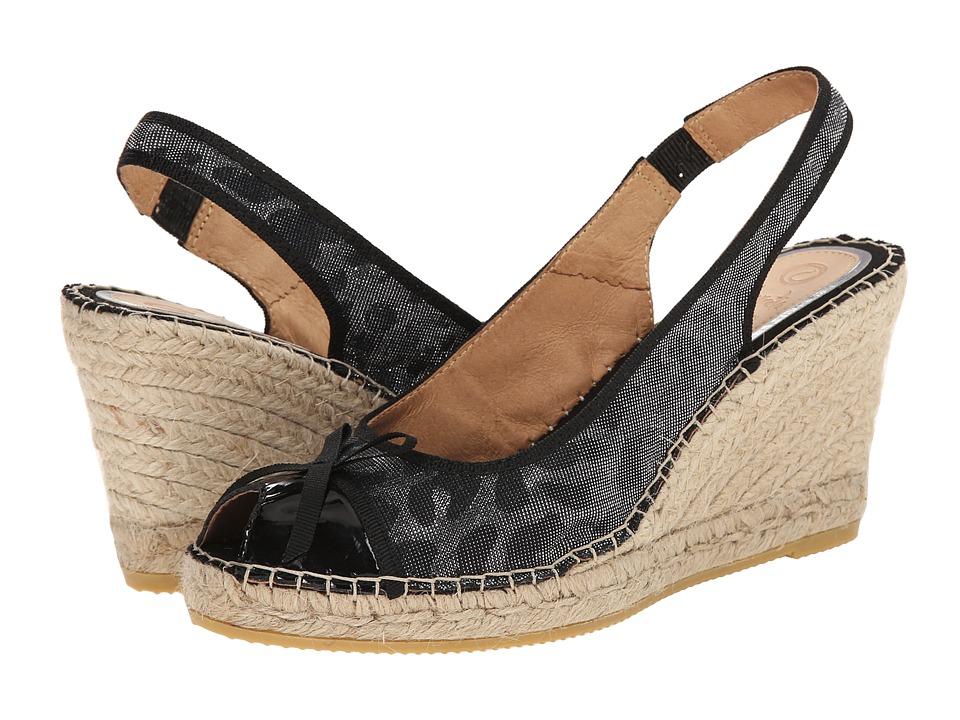 Vidorreta - Lexi (Black Leopard Combo) Women's Wedge Shoes