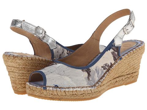 Vidorreta - Laguna (Blue Floral) Women's Wedge Shoes