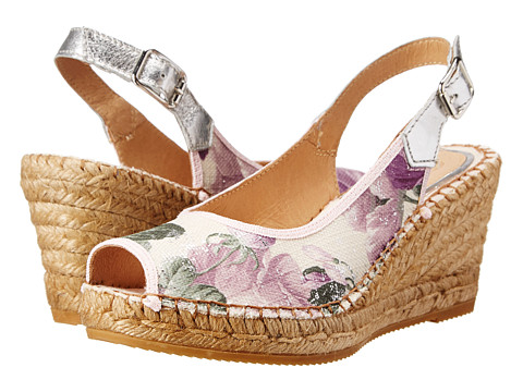 Vidorreta - Laguna (Purple Floral) Women's Wedge Shoes