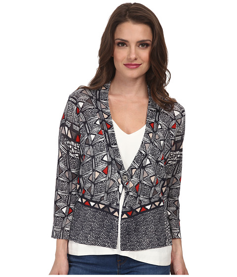 NIC+ZOE - Petite Boxed Tribal Cardy (Midnight Mix) Women's Sweater