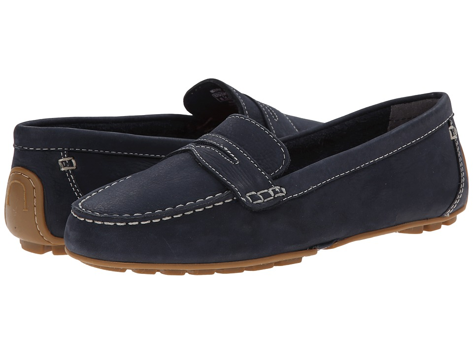 Rockport Cambridge Boulevard Comfort Penny (New Dress Blues Nubuck Wash) Women