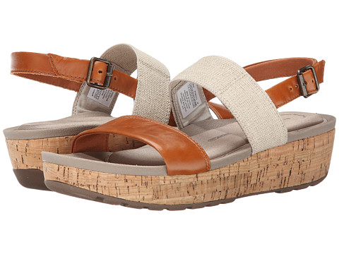 Rockport - Land Boulevard Two-Band Ankle Strap Sandal (Valigia/Natural) Women's Sandals