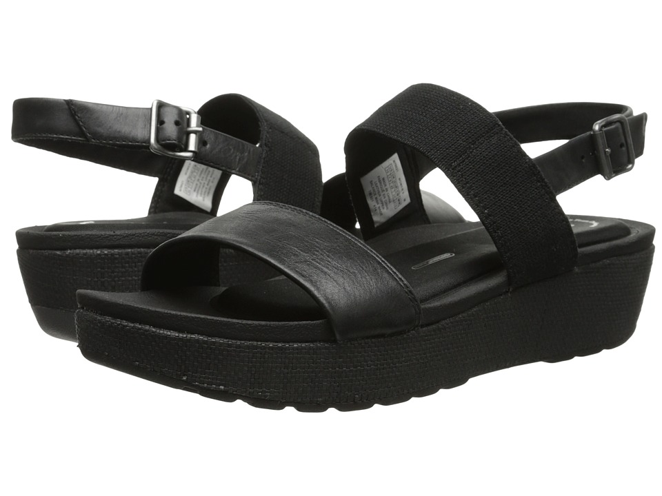 Rockport - Land Boulevard Two-Band Ankle Strap Sandal (Black/Pewter) Women's Sandals