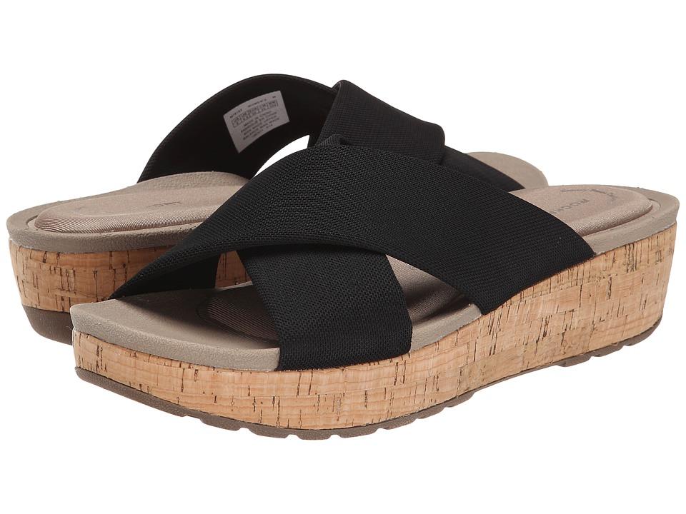 Rockport - Land Boulevard Cross Slide Flatform Sandal (Black Stretch) Women's Sandals