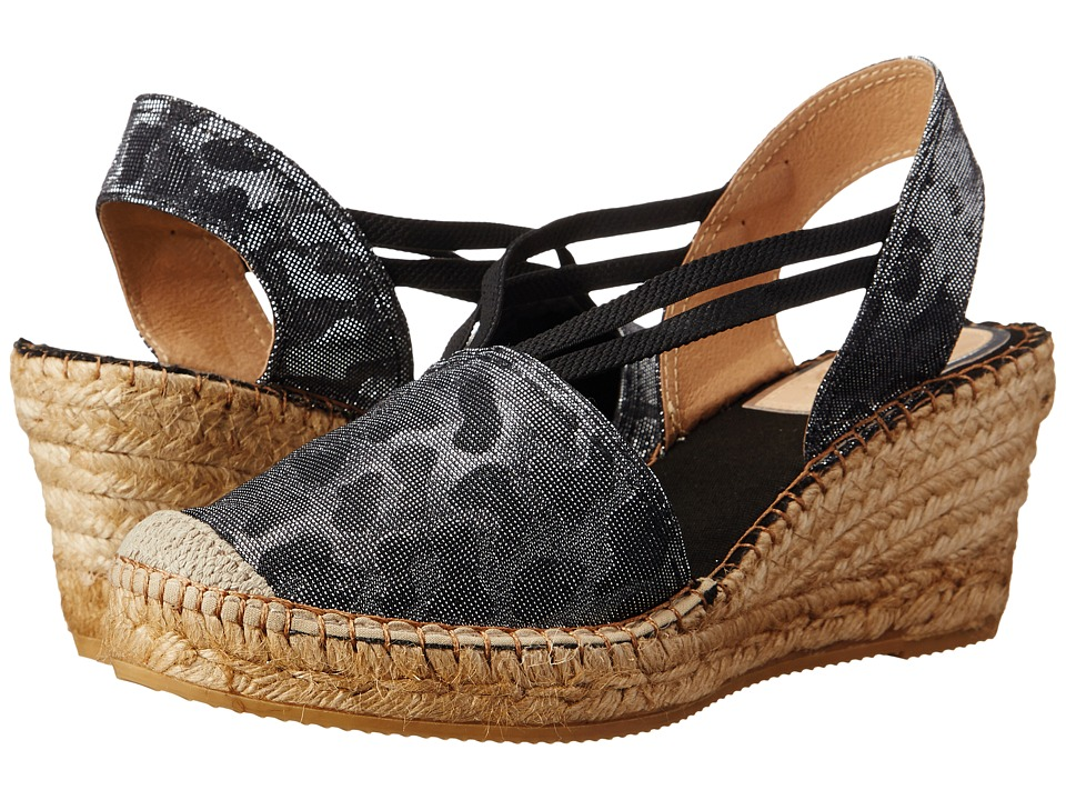 Vidorreta - Layla (Black Leopard) Women's Wedge Shoes