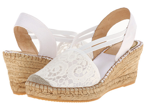 Vidorreta - Lola (White Lace) Women's Wedge Shoes