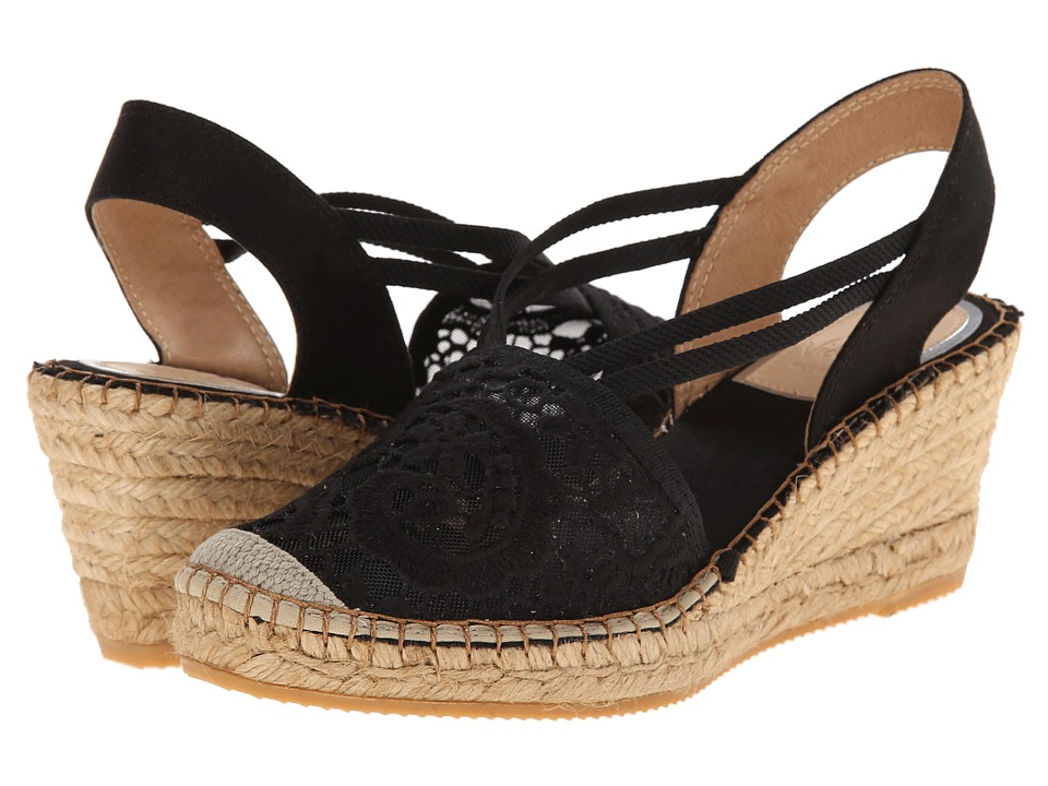 Vidorreta - Lola (Black Lace) Women's Wedge Shoes