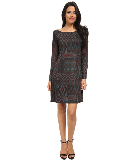Nally & Millie - Aztec Sweater Dress (Green) Women's Dress