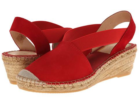 Vidorreta - Luna (Red Suede) Women's Slip on Shoes