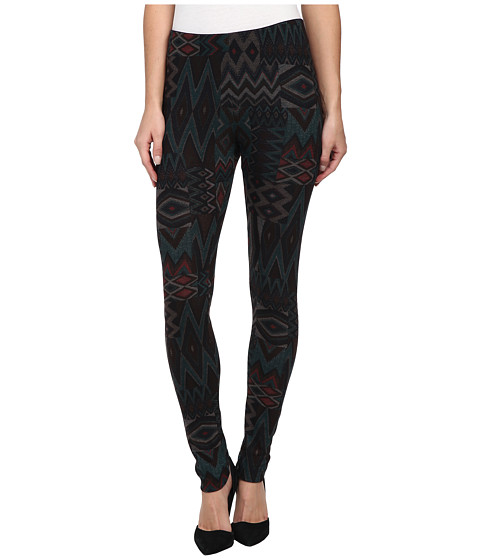 Nally & Millie - Aztec Print Legging (Green) Women's Casual Pants