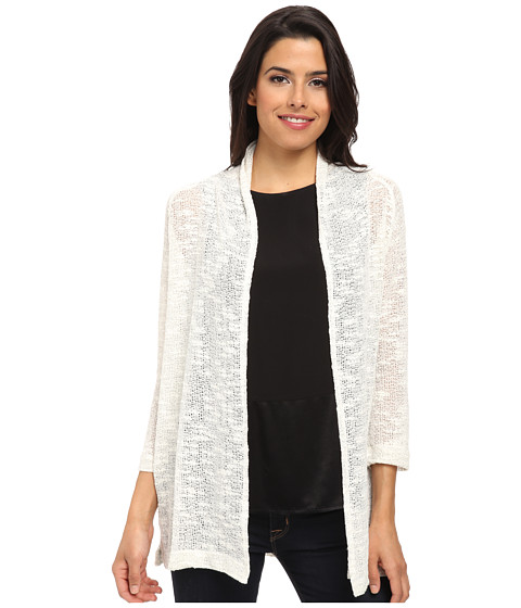 Nally & Millie - Open Front Cardigan (Silver) Women