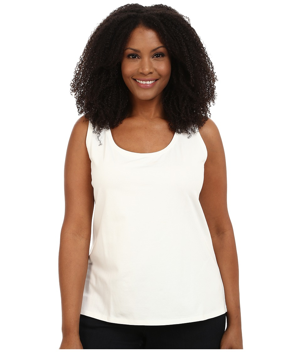NIC+ZOE - Plus Size Perfect Tank '14 (Milk White) Women's Sleeveless