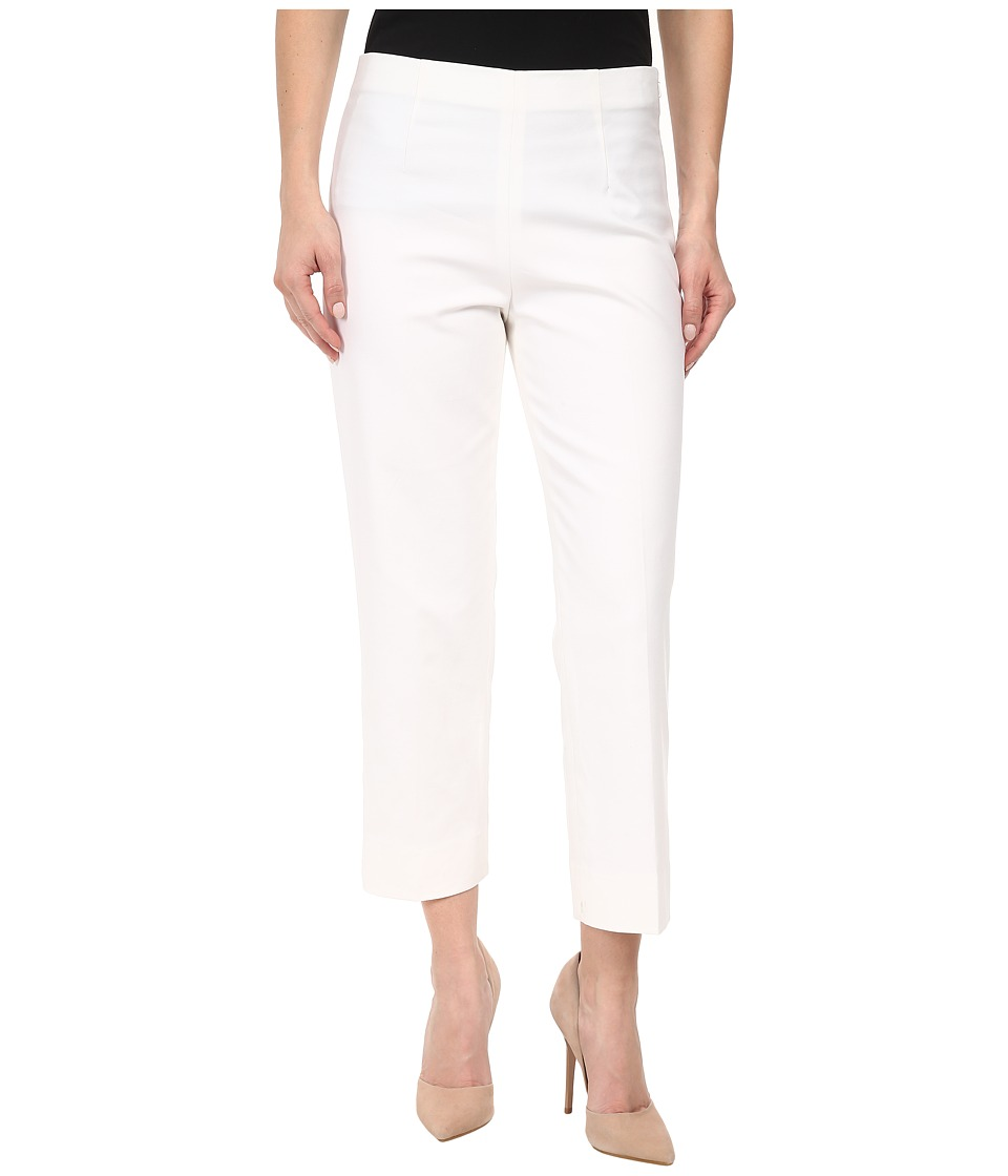 NIC+ZOE - Petite Perfect Pant Side Zip Ankle (Paper White) Women's Casual Pants