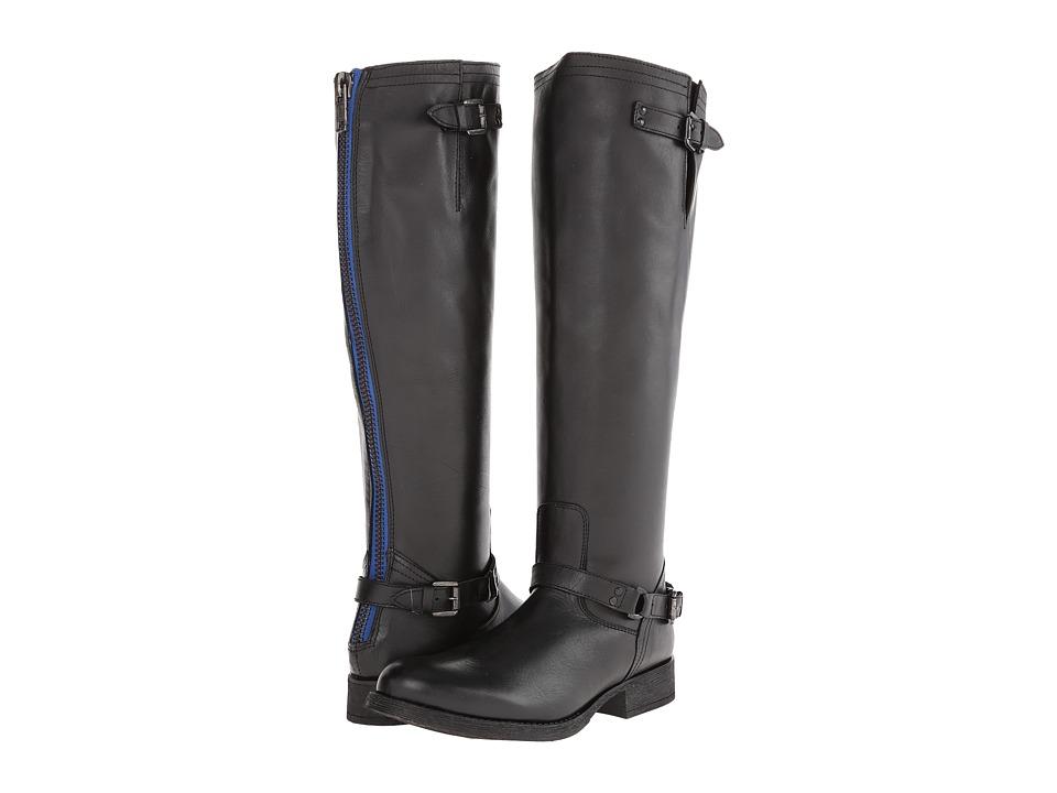 Steve Madden - Rex (Black/Blue Zip) Women's Zip Boots