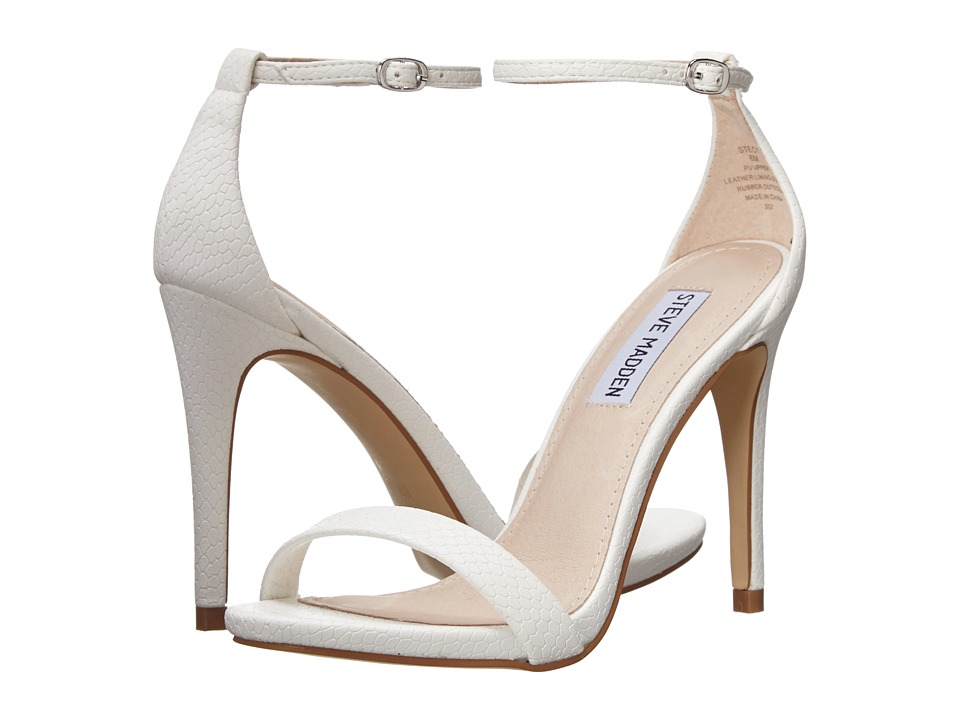 Steve Madden - Stecy (White Snake) High Heels