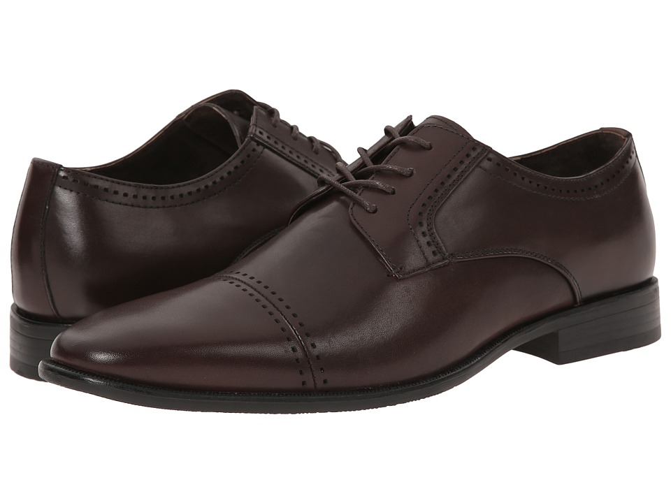 Stacy Adams - Langham (Brown) Men's Lace Up Cap Toe Shoes