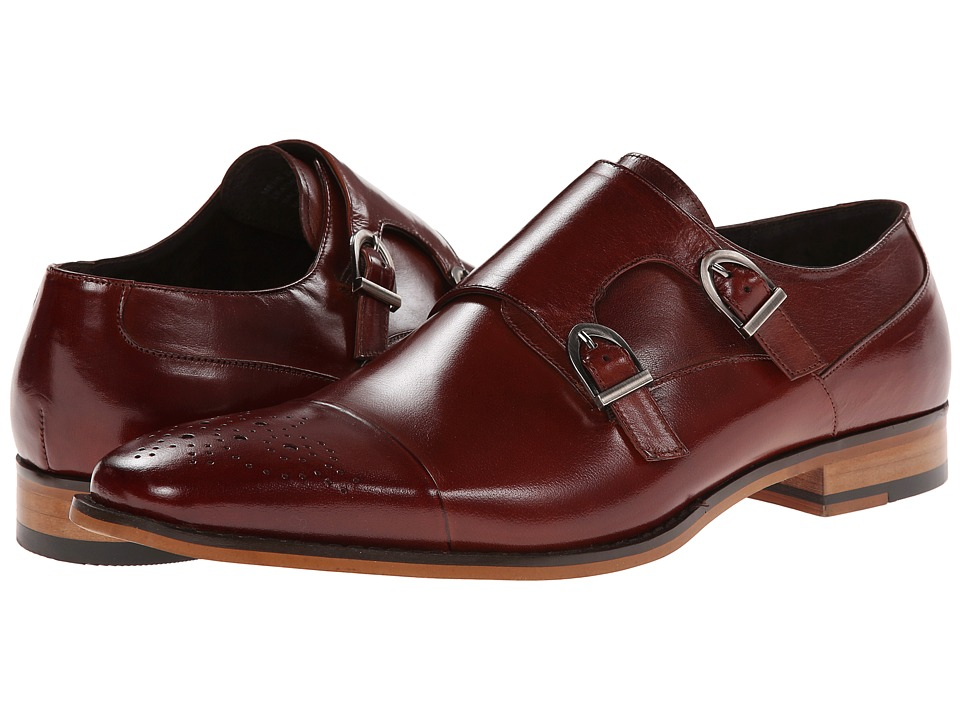 Stacy Adams - Trevor (Cognac) Men's Monkstrap Shoes
