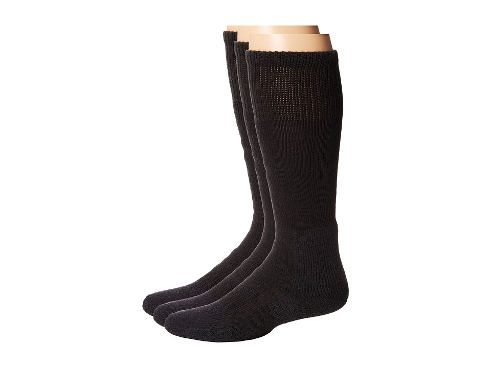Thorlos - Extreme Cold Crew Sock 3-Pair Pack (Black) Crew Cut Socks Shoes