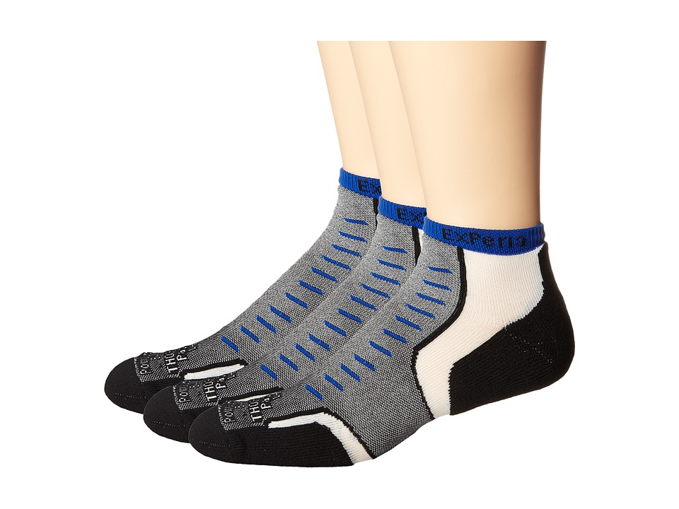 Thorlos - Experia Jet Micro Mini 3-Pair Pack (Jet Royal) No Show Socks Shoes