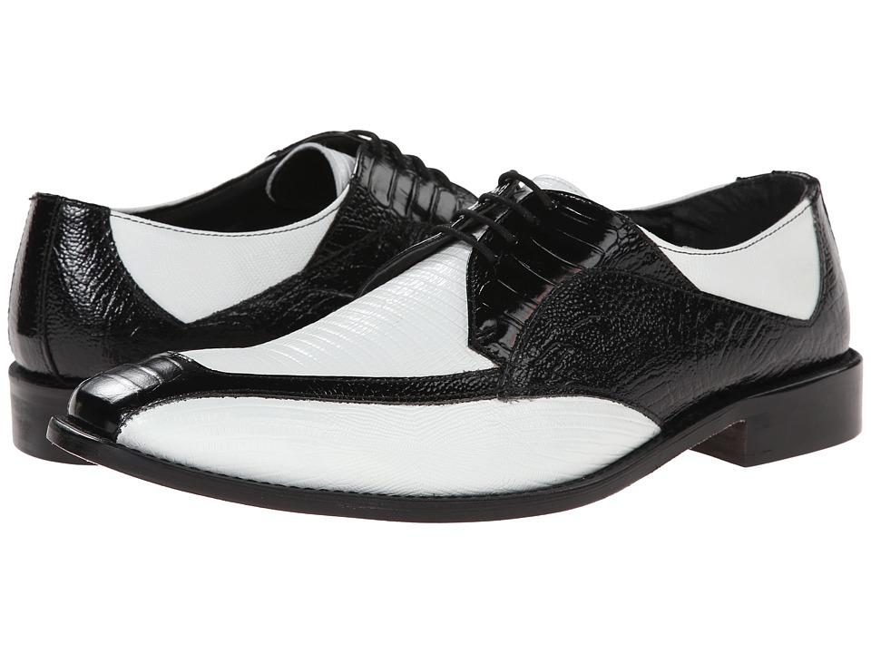 Stacy Adams - Genoa (Black/White) Men's Lace Up Moc Toe Shoes