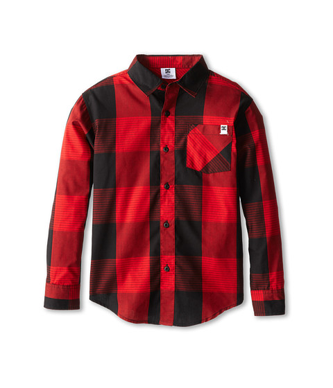 DC Kids - Chester L/S Woven Shirt (Big Kids) (Formula One) Boy