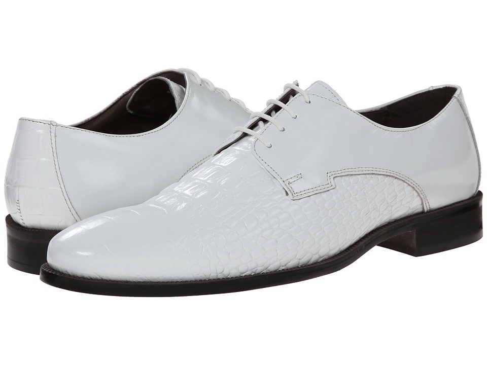 Stacy Adams - Florio (White) Men's Plain Toe Shoes