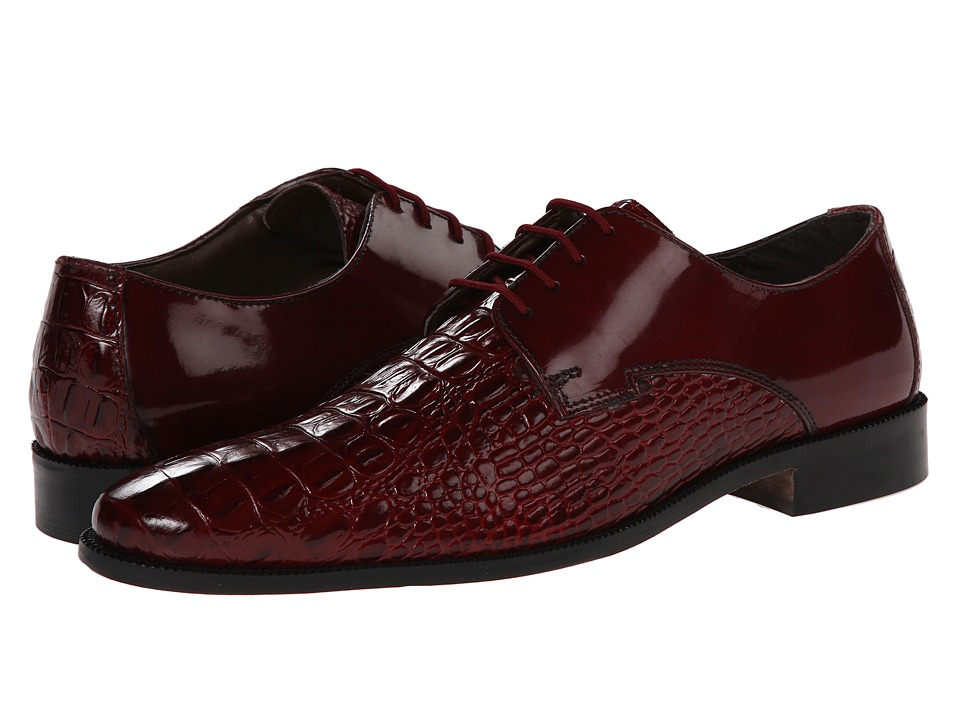 Stacy Adams - Florio (Red) Men's Plain Toe Shoes