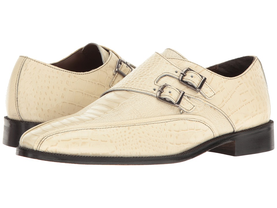 Stacy Adams - Kasimir (Ivory) Men's Monkstrap Shoes