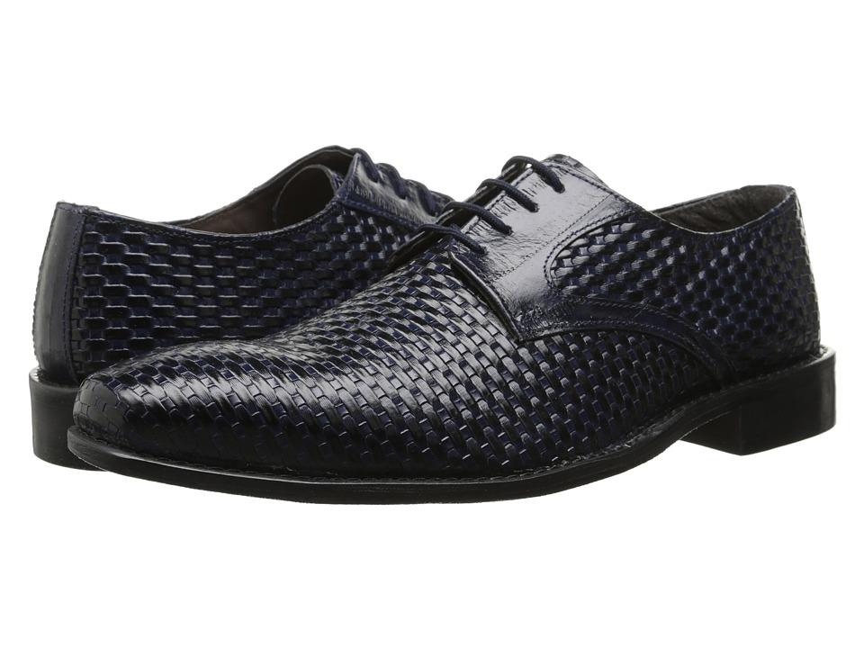 Stacy Adams - Sanfillipo (Dark Blue) Men's Plain Toe Shoes