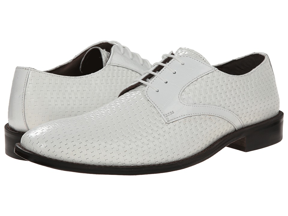 Stacy Adams - Sanfillipo (White) Men's Plain Toe Shoes