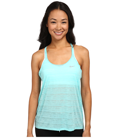 Nike - Dri-FIT Cool Breeze Strappy Tank Top (Light Aqua/Reflective Silver) Women's Sleeveless