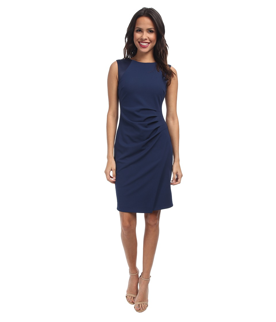 NYDJ - Iris Side Pleated Dress (Heritage Navy) Women's Dress