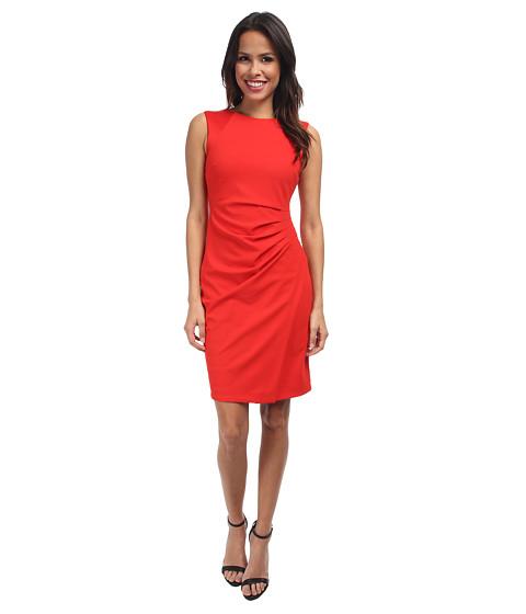 NYDJ - Iris Side Pleated Dress (Vivid Red) Women's Dress