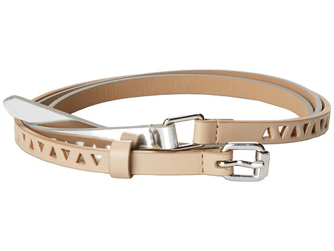 BCBGMAXAZRIA - Double Wrap Triangle Cut Waist Belt (Nude Combo) Women's Belts