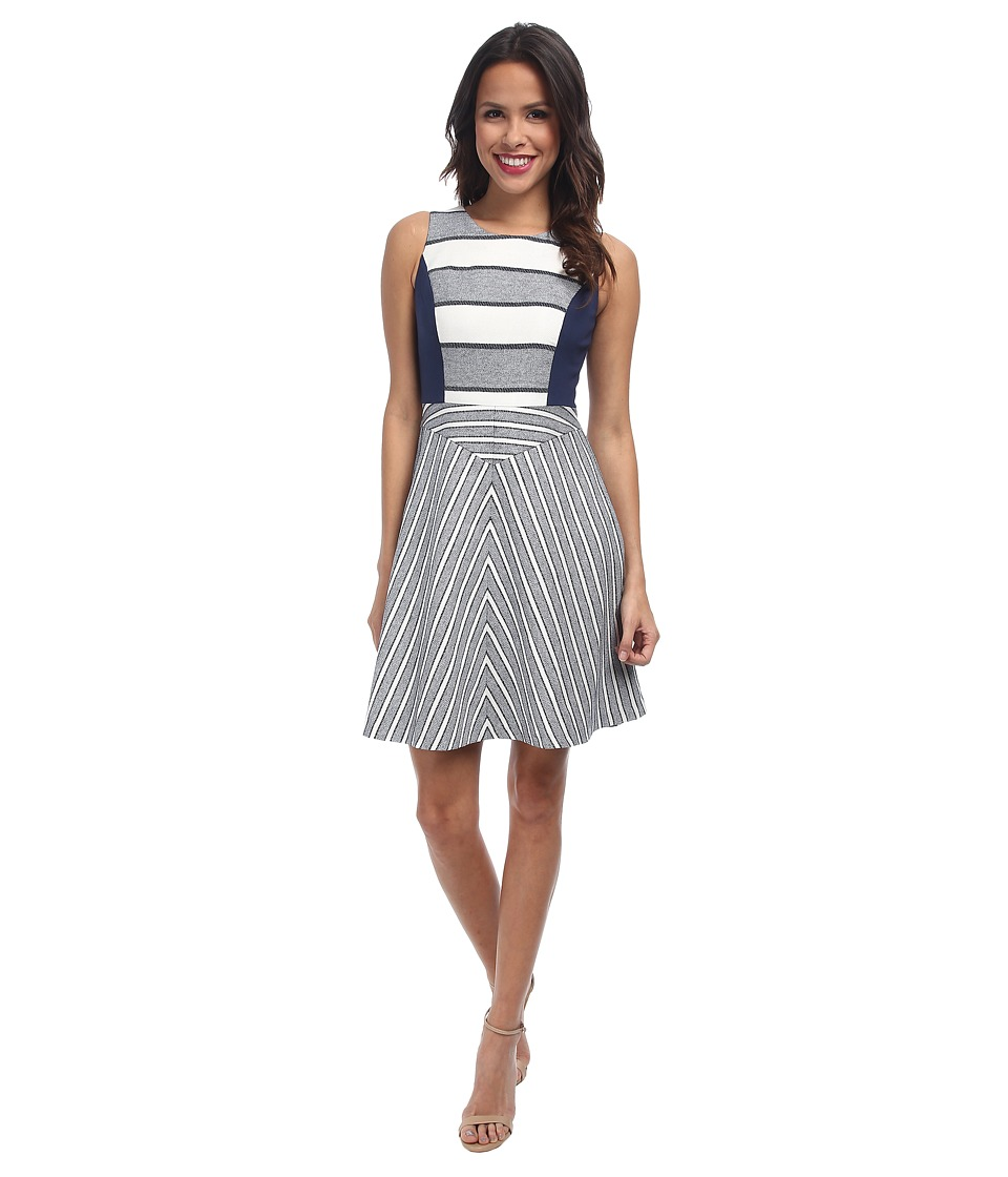 NYDJ - Stacy Stripe Dress (Heritage Navy/Sugar) Women's Dress