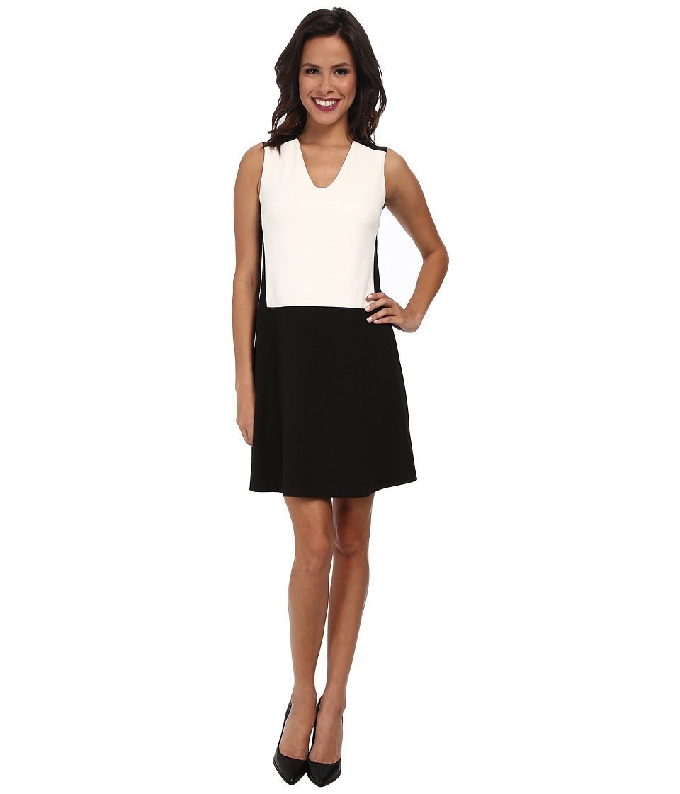NYDJ - Sabrina Shift Dress (Black/Optic White) Women's Dress