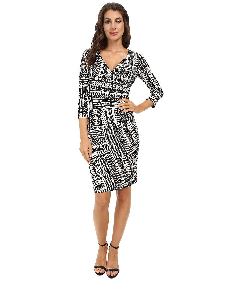 NYDJ - Yasemin Printed Dress (Black/Optic White) Women's Dress