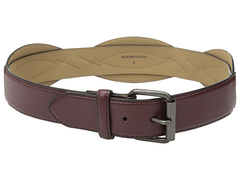 BCBGMAXAZRIA - Double Layer Wave Waist Belt (Merlot) Women