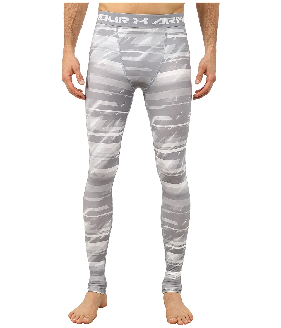 Under Armour - Armour(r) Heatgear(r) Printed Legging (Steel/White/Black) Men's Casual Pants
