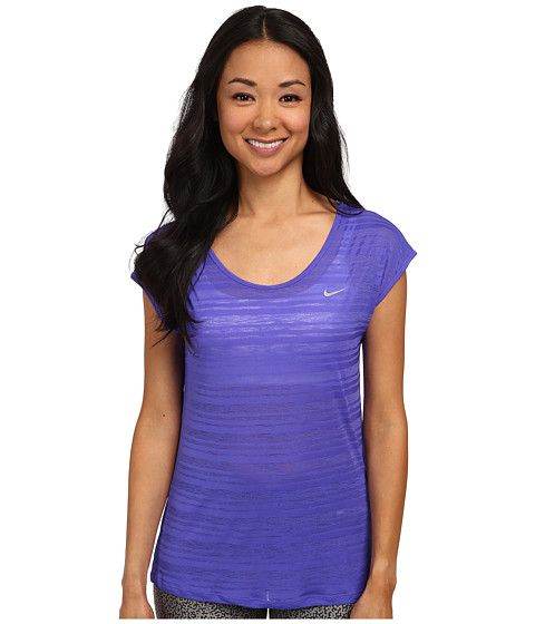Nike - Dri-FIT Cool Breeze Short Sleeve Top (Persian Violet/Reflective Silver) Women's Short Sleeve Pullover