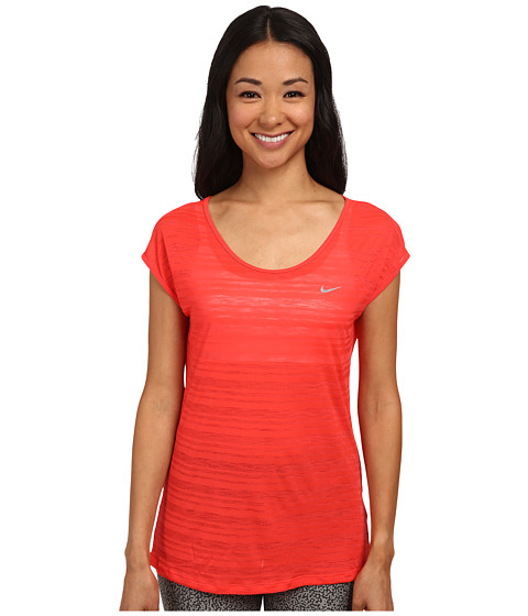 Nike - Dri-FIT Cool Breeze Short Sleeve Top (Daring Red/Reflective Silver) Women
