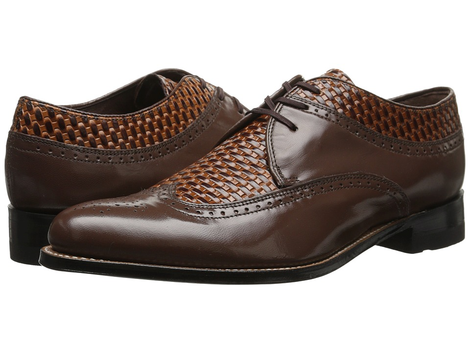 Stacy Adams - Dayton (Brown/Tan) Men's Lace Up Wing Tip Shoes